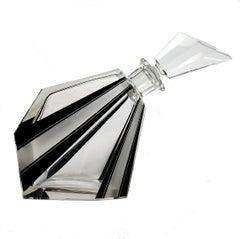 Art Deco Wacky Shaped Glass Decanter