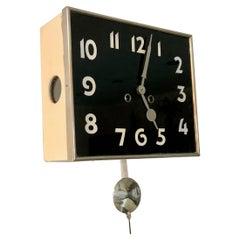 Art-Deco Wall Clock Kienzle, Czechoslovakia