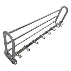 Art Deco Wall Coat Rack with 8 Hooks
