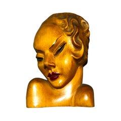 Art Deco Wall Mask, 1930s