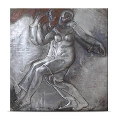 Art Deco Wall Relief, Attributed to Alfredo Biagini, Italy, 1920s