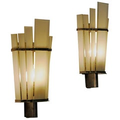 Art Deco Wall Sconces Pair by Zenith, Germany, 1930s-1940s