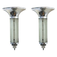 Art Deco Wall Sconces With Glass Rods