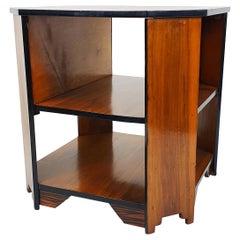 Art Deco Walnut and Coromandel Octagonal Centre Table
