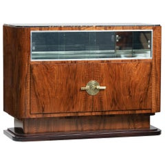 Art Deco Walnut and Marble Sideboard