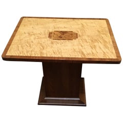 Art Deco Walnut and Satinwood Coffee Table