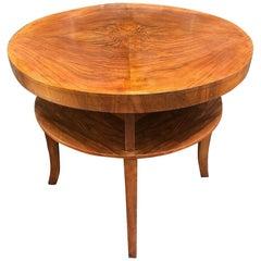 Art Deco Walnut Book Table, English, circa 1930