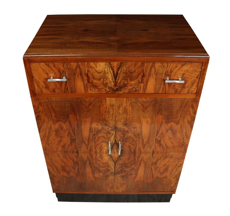 Art Deco walnut cabinet, circa 1930