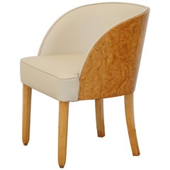 Art Deco Walnut Chair Attributed to Harry and Lou Epstein