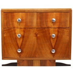 Art Deco Walnut Chest of Drawers
