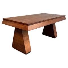 Art Deco Walnut Coffee Table Attributed to Donald Deskey