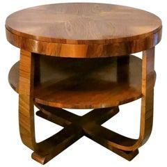 Art Deco Walnut Coffee Table, Austria, 1930