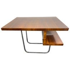Art Deco Walnut Coffee Table Bespoke Piece Designed by Architect H de Witte