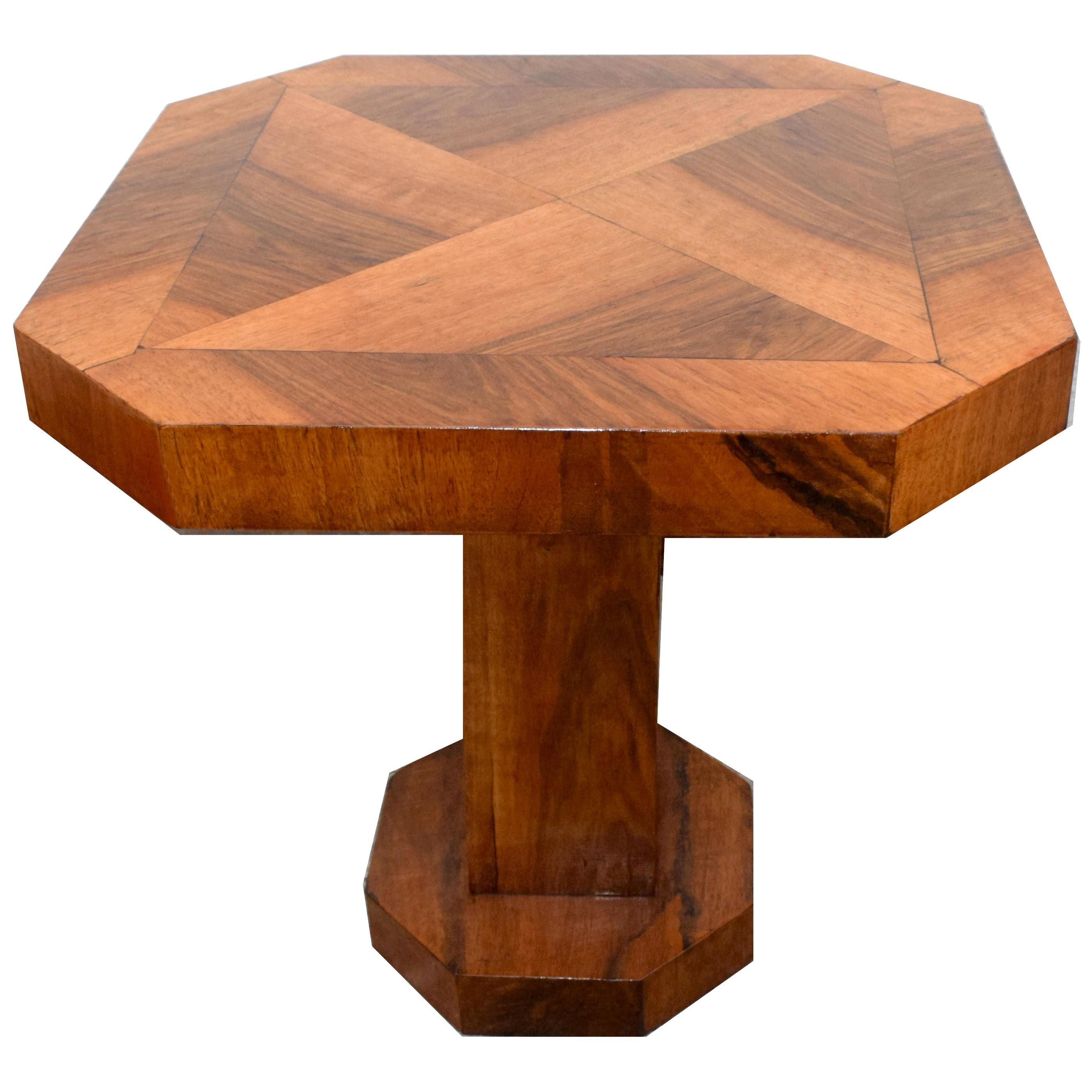 Art Deco Walnut Coffee Table, English, circa 1930