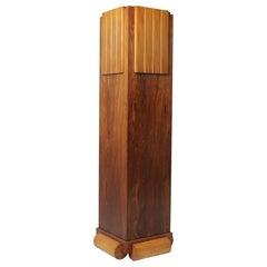 Art Deco Walnut Column, c1925