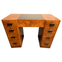 Art Deco Walnut Desk by Maples of Tottenham Court Road