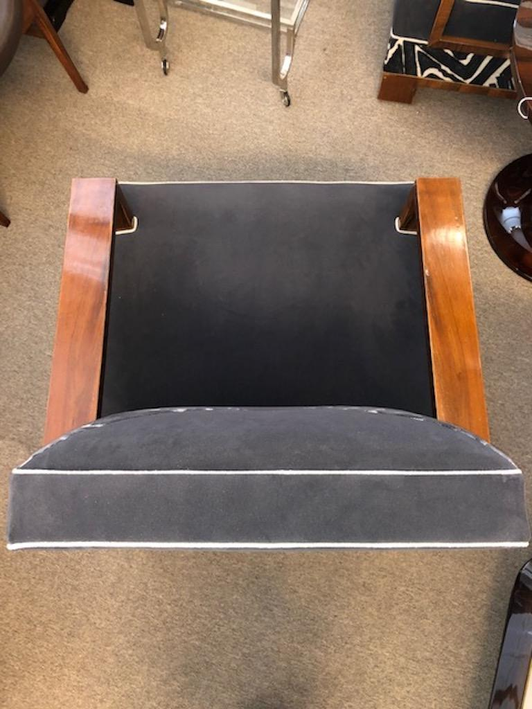Art Deco Walnut Hungarian Armchairs In Excellent Condition For Sale In Houston, TX