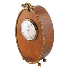Art Deco Walnut Mantel Clock, 20th Century