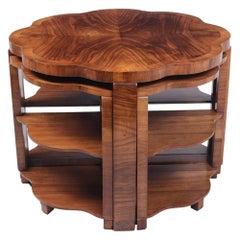 Art Deco Walnut Nest of Tables, c.1930