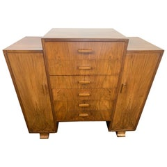 Art Deco Walnut Sheet Music Cabinet by Merryweather & Sons of Holloway