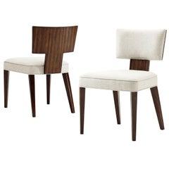 Art Deco Walnut Side Chair