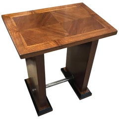 Art Deco Walnut Side / Console / Occasional Table