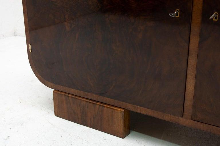 Art Deco Walnut Sideboard, 1930s, Bohemia For Sale 5