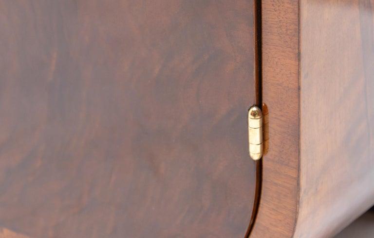 Art Deco Walnut Sideboard, 1930s, Bohemia For Sale 7