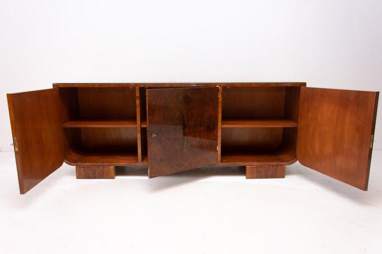 Art Deco Walnut Sideboard, 1930s, Bohemia For Sale 2