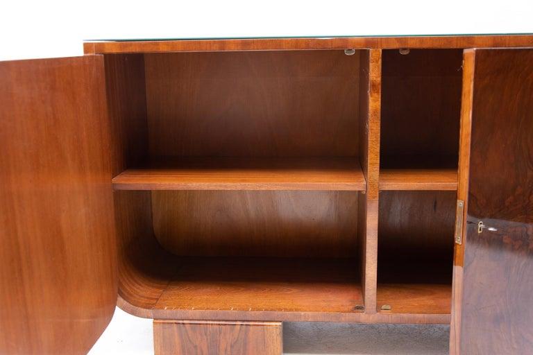 Art Deco Walnut Sideboard, 1930s, Bohemia For Sale 3