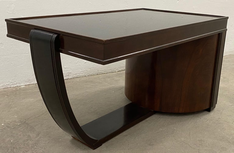 20th Century Art Deco Walnut and Smokey Glass Bar / Cocktail Table, circa 1920s For Sale