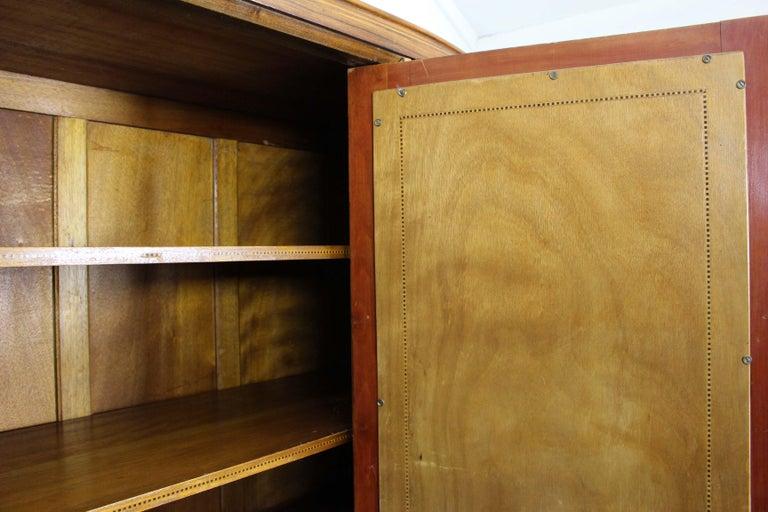 Art Deco Walnut Wardrobe Cabinet by Guerin, Paris, 1920 For Sale 6