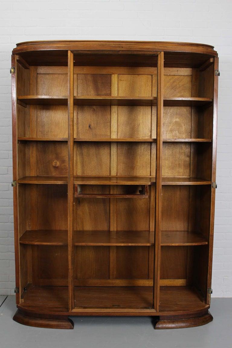 Art Deco Walnut Wardrobe Cabinet by Guerin, Paris, 1920 For Sale 11