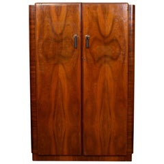Art Deco Walnut Wardrobe