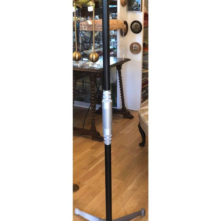 American Art Deco Walter Von Nessen Style Machine Age Industrial Floor Lamp For Sale