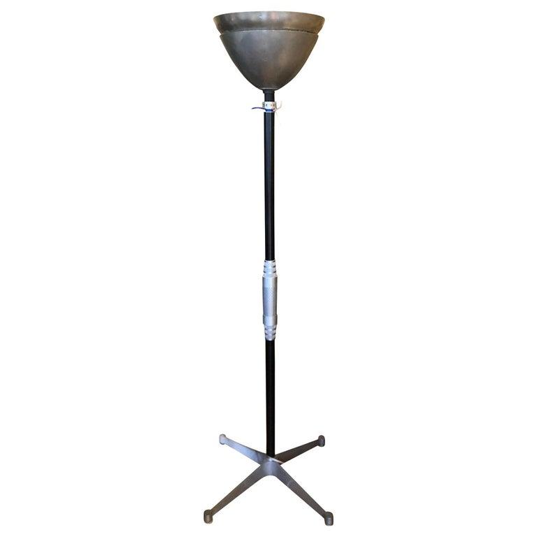 Art Deco Walter Von Nessen Style Machine Age Industrial Floor Lamp For Sale