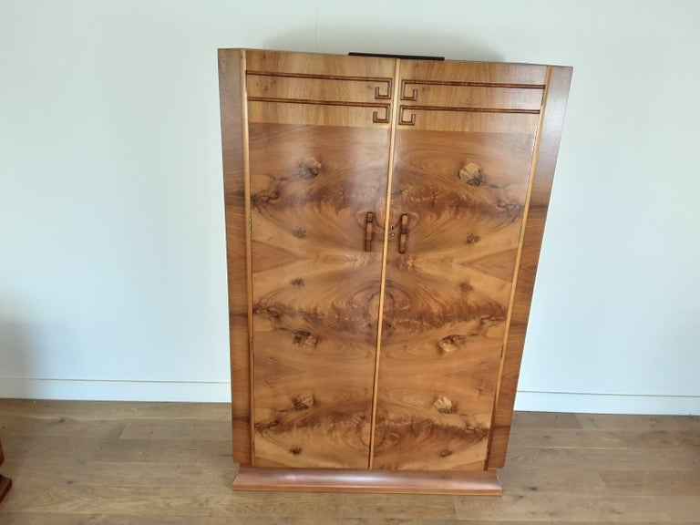 British Art Deco Wardrobe For Sale