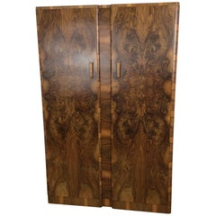 Art Deco Wardrobe in a Stunning Figured Walnut