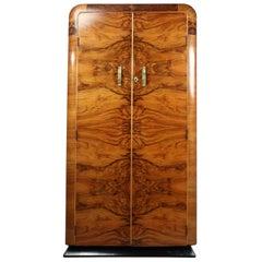 Art Deco Wardrobe in Walnut