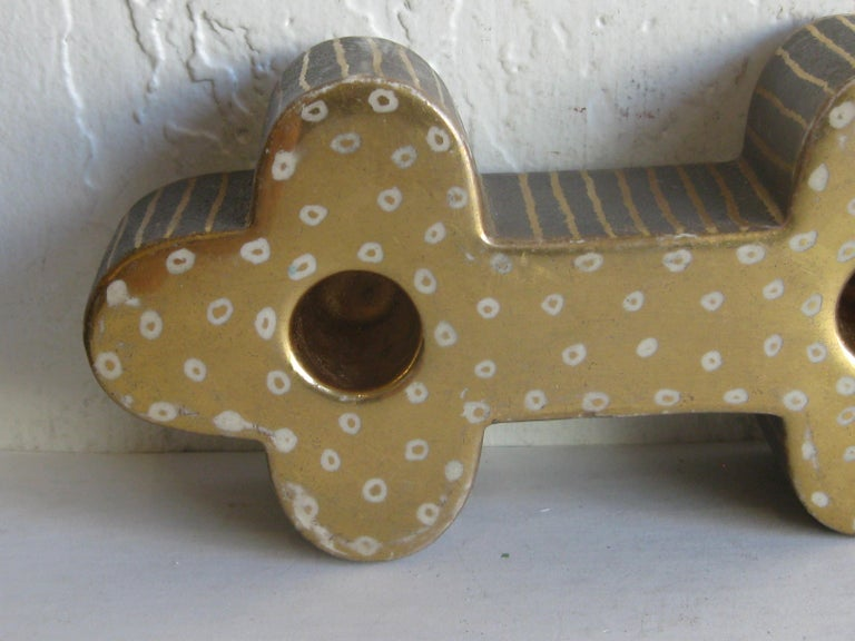 Art Deco Waylande Gregory Studio Art Pottery Candlestick Holder Candleholder For Sale 6