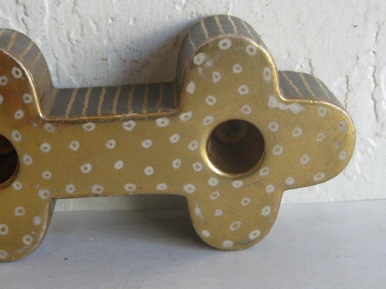 Art Deco Waylande Gregory Studio Art Pottery Candlestick Holder Candleholder For Sale 7