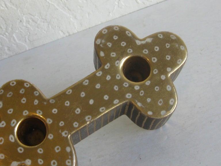 Art Deco Waylande Gregory Studio Art Pottery Candlestick Holder Candleholder For Sale 8