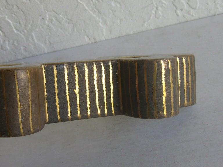 Art Deco Waylande Gregory Studio Art Pottery Candlestick Holder Candleholder For Sale 10