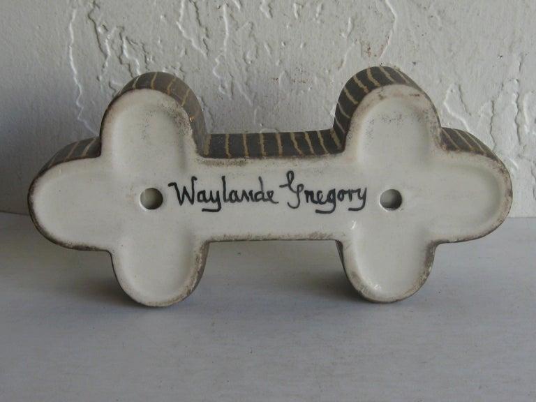 Art Deco Waylande Gregory Studio Art Pottery Candlestick Holder Candleholder For Sale 12