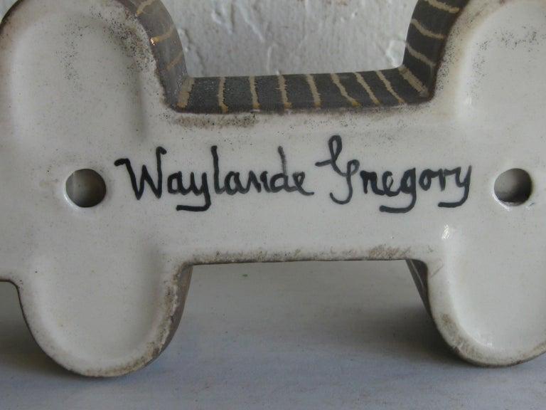 Art Deco Waylande Gregory Studio Art Pottery Candlestick Holder Candleholder For Sale 13