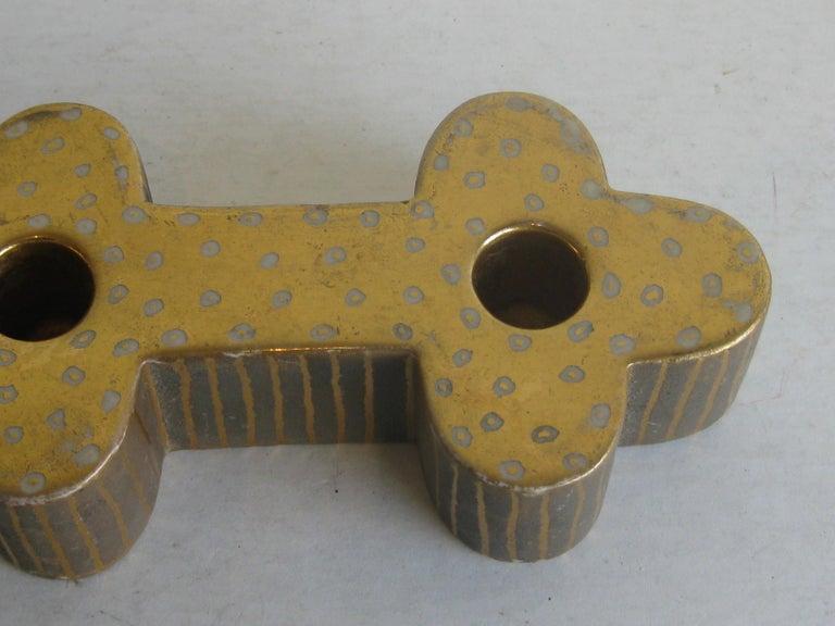 Ceramic Art Deco Waylande Gregory Studio Art Pottery Candlestick Holder Candleholder For Sale