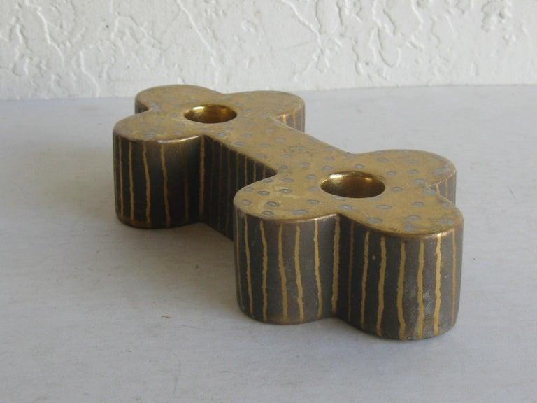 Art Deco Waylande Gregory Studio Art Pottery Candlestick Holder Candleholder For Sale 1