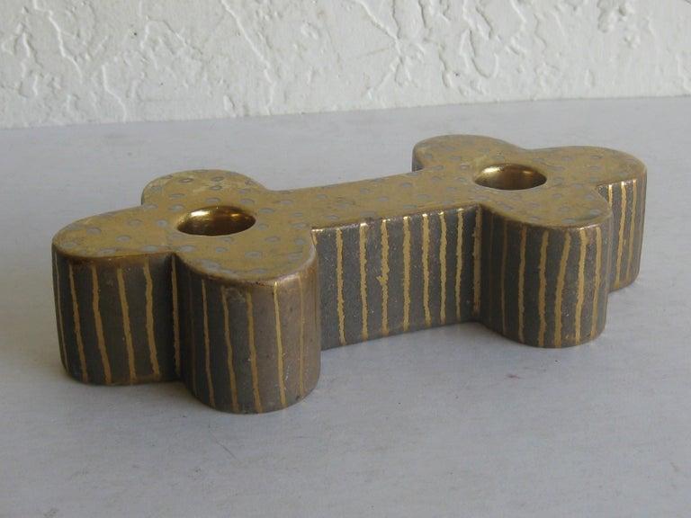 Art Deco Waylande Gregory Studio Art Pottery Candlestick Holder Candleholder For Sale 2