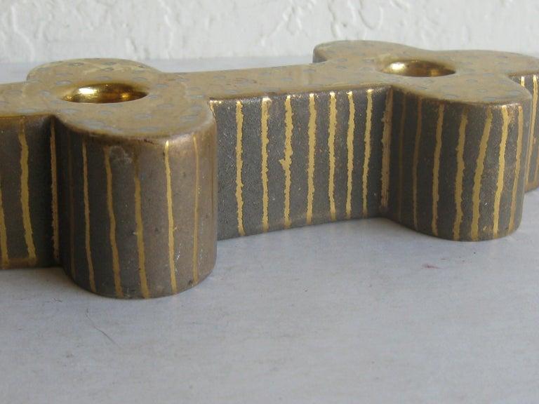 Art Deco Waylande Gregory Studio Art Pottery Candlestick Holder Candleholder For Sale 3