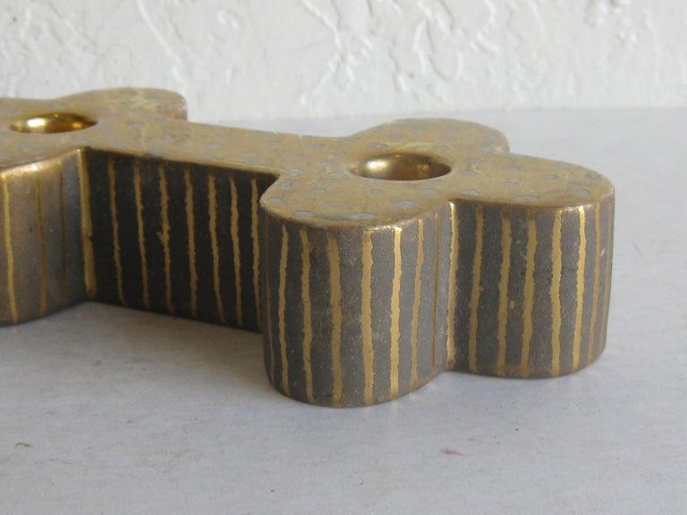 Art Deco Waylande Gregory Studio Art Pottery Candlestick Holder Candleholder For Sale 4
